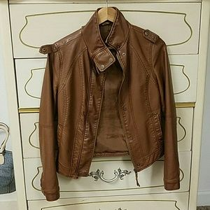 Aeropostale leather jacket